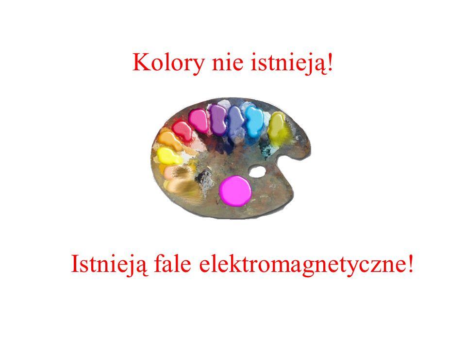 Kolory nie istnieją! Istnieją fale elektromagnetyczne!