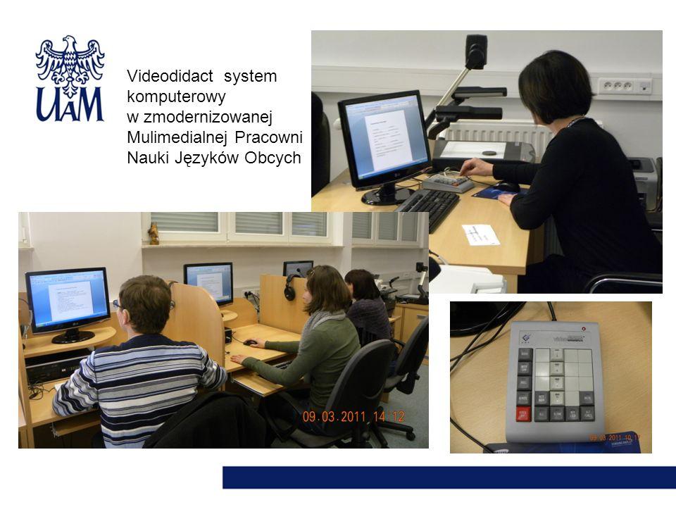 Videodidact system komputerowy w zmodernizowanej Mulimedialnej Pracowni Nauki Języków Obcych
