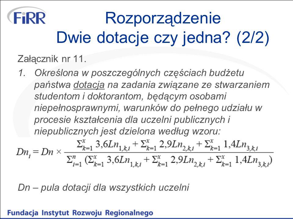 Rozporządzenie Dwie dotacje czy jedna.(2/2) Załącznik nr 11.