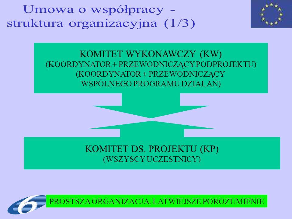 61 KOMITET WYKONAWCZY (KW) (KOORDYNATOR + PRZEWODNICZĄCY PODPROJEKTU) (KOORDYNATOR + PRZEWODNICZĄCY WSPÓLNEGO PROGRAMU DZIAŁAŃ) KOMITET DS. PROJEKTU (