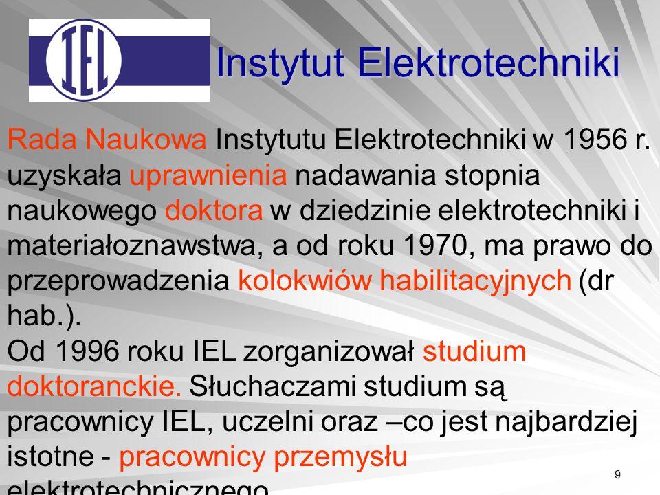 9 Instytut Elektrotechniki Rada Naukowa Instytutu Elektrotechniki w 1956 r.