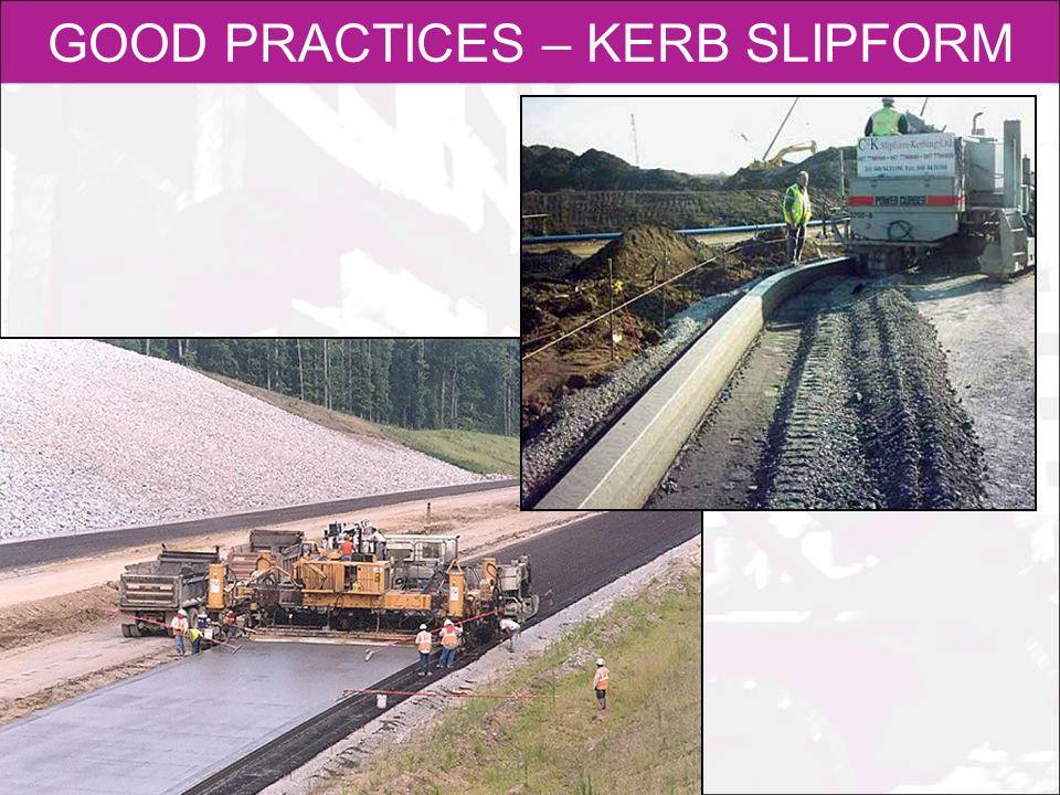 GOOD PRACTICES – KERB SLIPFORM