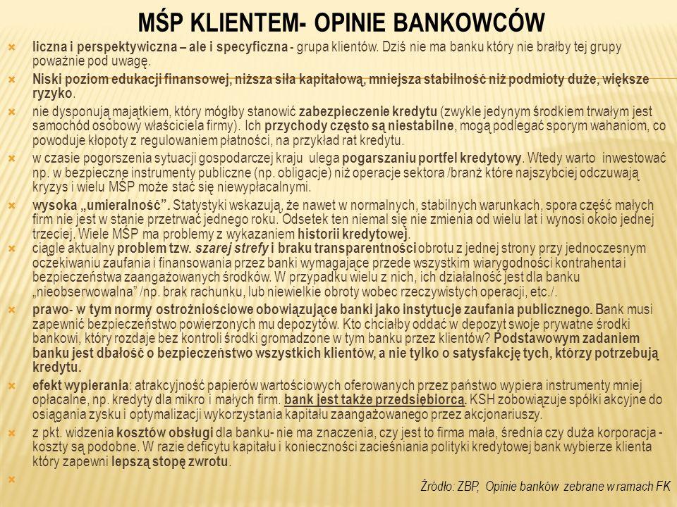 45 Usługi banków związane z Działaniem 2.3 SPO-WKP zostały stosunkowo wysoko ocenione przez wnioskodawców, którzy z nich korzystali.