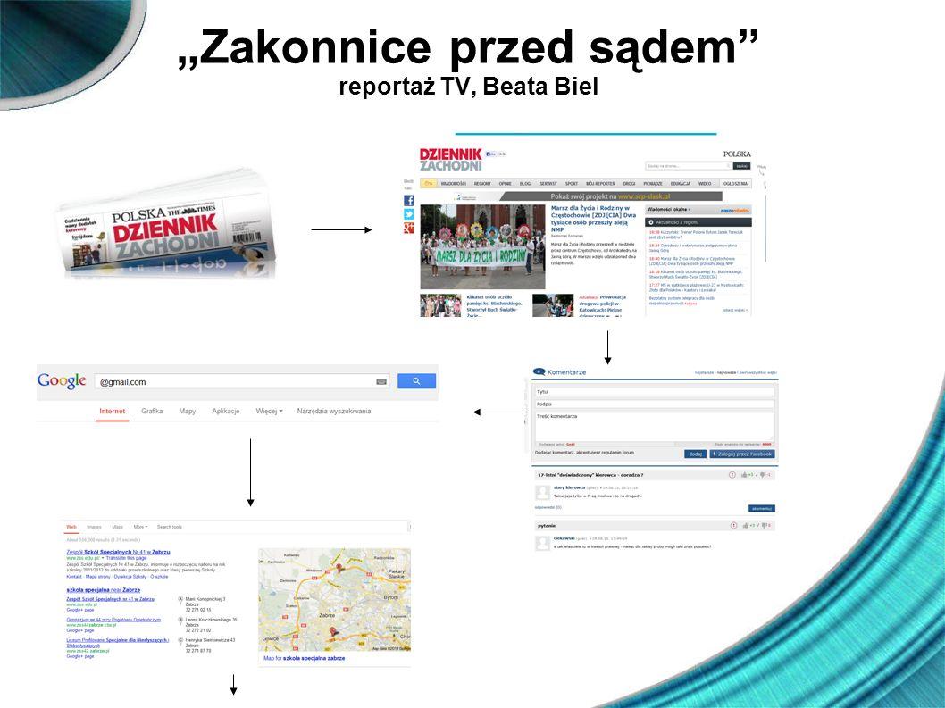 Zakonnice przed sądem reportaż TV, Beata Biel