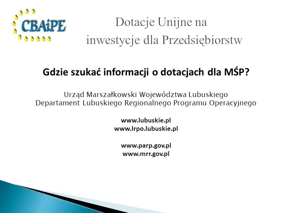 Gdzie szukać informacji o dotacjach dla MŚP.