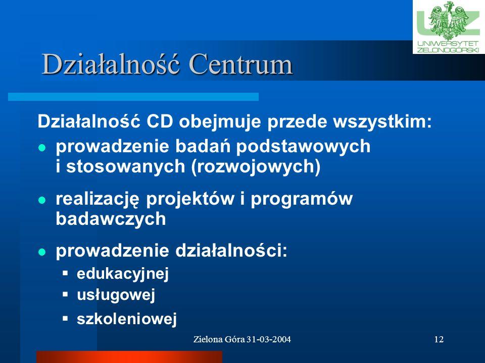 Zielona Góra 31-03-200411 Struktura Rady Centrum
