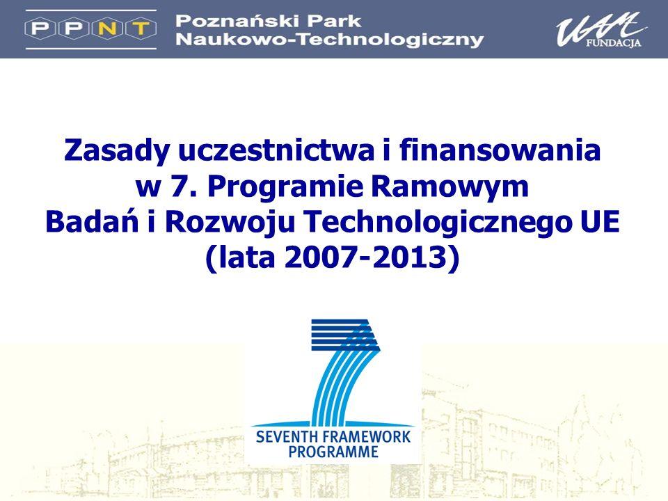 Zasady uczestnictwa i finansowania w 7.