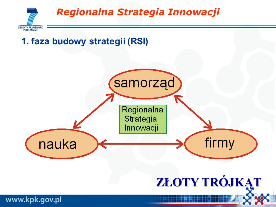 Regionalna Strategia Innowacji ZŁOTY TRÓJKĄT 1. faza budowy strategii (RSI)