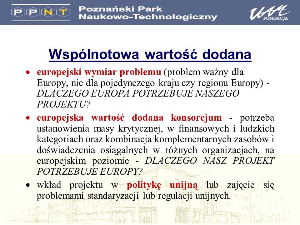 Wspólnotowa wartość dodana europejski wymiar problemu (problem ważny dla Europy, nie dla pojedynczego kraju czy regionu Europy) - DLACZEGO EUROPA POTR