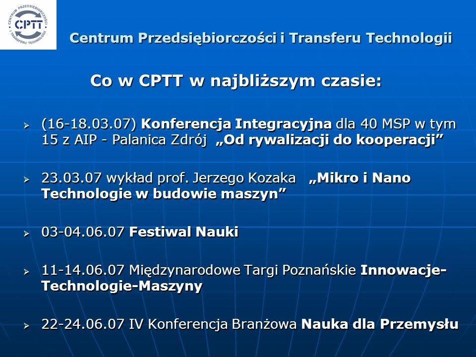 (16-18.03.07) Konferencja Integracyjna dla 40 MSP w tym 15 z AIP - Palanica Zdrój Od rywalizacji do kooperacji (16-18.03.07) Konferencja Integracyjna
