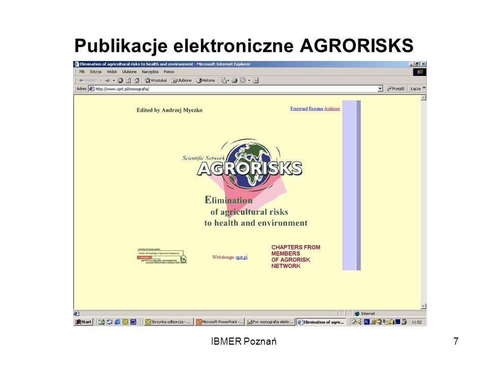 IBMER Poznań7 Publikacje elektroniczne AGRORISKS