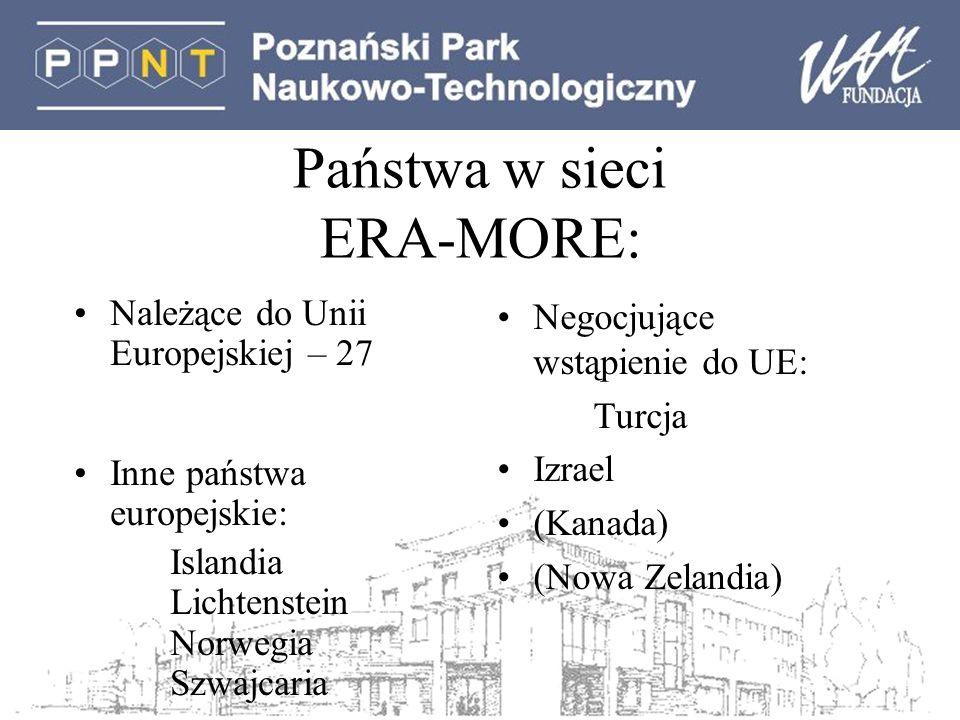 Państwa w sieci ERA-MORE: Należące do Unii Europejskiej – 27 Inne państwa europejskie: Islandia Lichtenstein Norwegia Szwajcaria Negocjujące wstąpieni