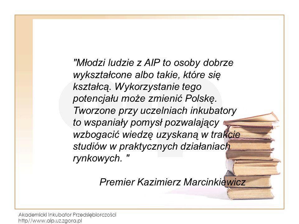 Akademicki Inkubator Przedsiębiorczości http//www.aip.uz.zgora.pl