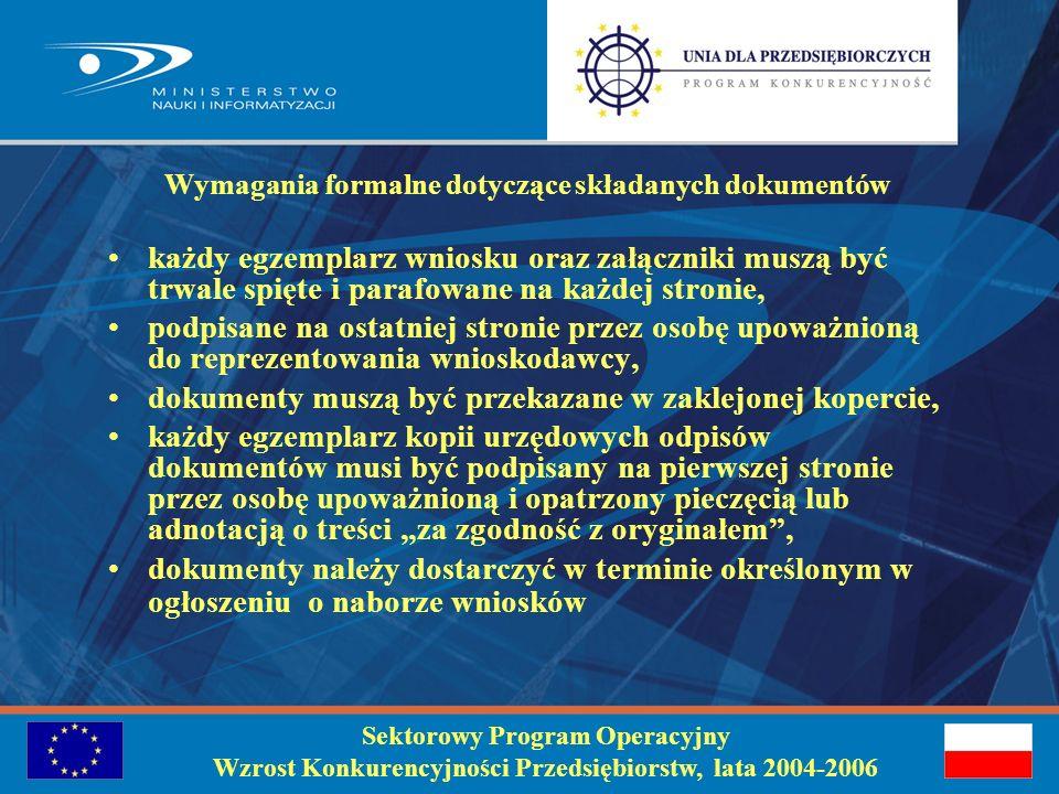 Szczegółowa lista załączników znajduje się na stronie internetowej: www.mnii.gov.pl