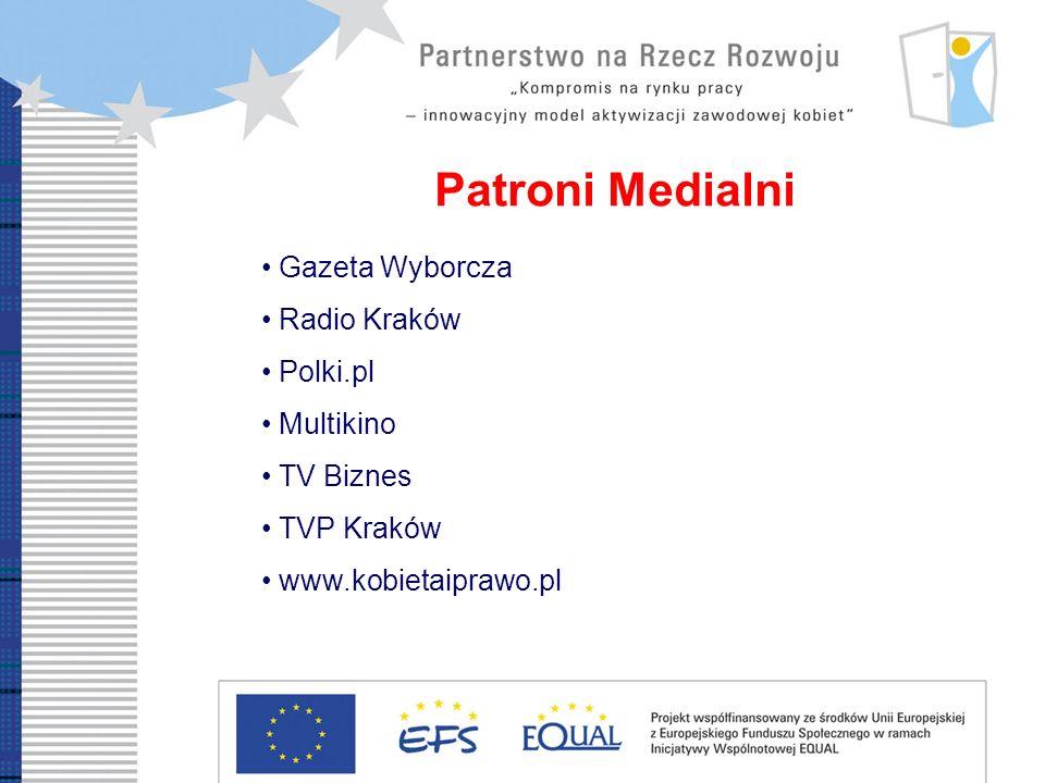 Patroni Medialni Gazeta Wyborcza Radio Kraków Polki.pl Multikino TV Biznes TVP Kraków www.kobietaiprawo.pl