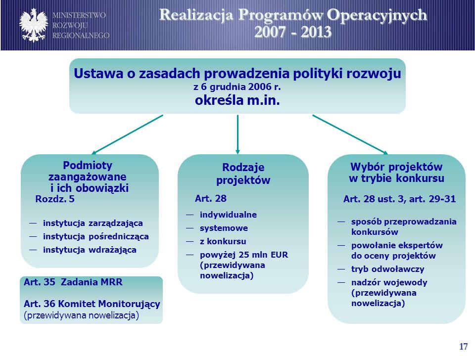 18 Ministerstwo Rozwoju Regionalnego ul.
