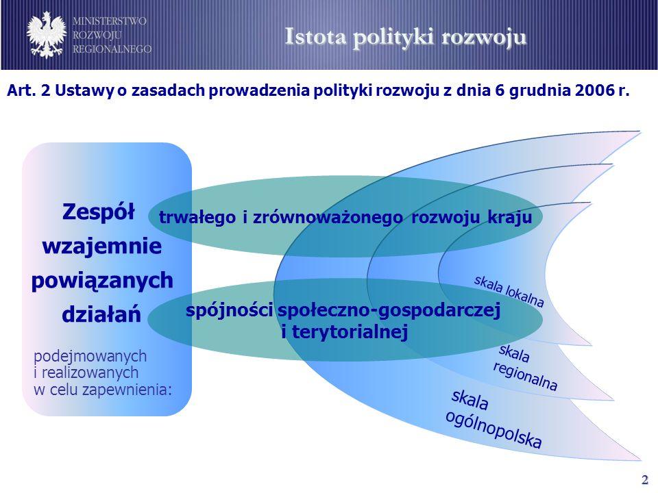 3 Cel główny Strategia Rozwoju Kraju 2007-2015 Narodowe Strategiczne Ramy Odniesienia 2007-2013 Podniesienie poziomu i jakości życia mieszkańców Polski: poszczególnych obywateli i rodzin Jakość życia – życie w czystym, zdrowym i sprzyjającym środowisku przyrodniczym Powyższy cel może być osiągnięty tylko w warunkach realizacji zasady zrównoważonego rozwoju… Tworzenie warunków dla wzrostu konkurencyjności gospodarki opartej na wiedzy i przedsiębiorczości, zapewniającej wzrost zatrudnienia oraz wzrost poziomu spójności społecznej, gospodarczej i przestrzennej Tworzenie warunków dla trwałego rozwoju, respektującego uwarunkowania środowiskowe (zwiększona uwaga na problemy wynikające ze zmian klimatycznych)