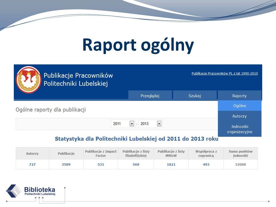 Raport ogólny
