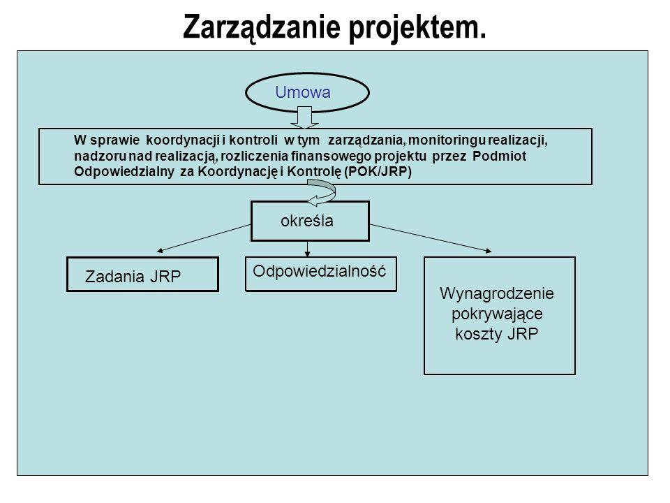 Zarządzanie projektem. W sprawie koordynacji i kontroli w tym zarządzania, monitoringu realizacji, nadzoru nad realizacją, rozliczenia finansowego pro