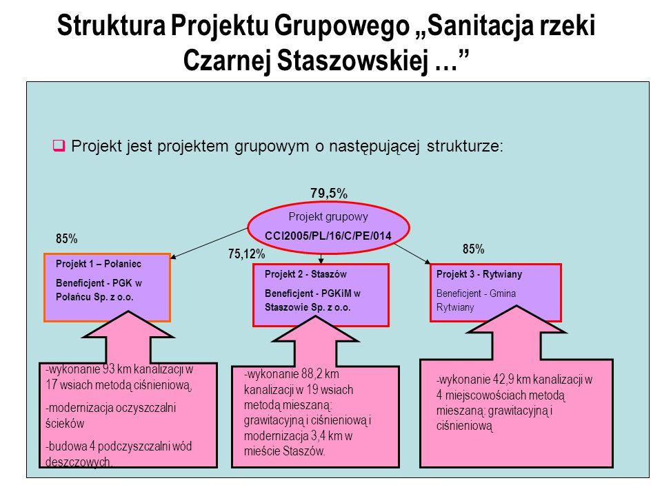 Struktura Projektu Grupowego Sanitacja rzeki Czarnej Staszowskiej … Projekt jest projektem grupowym o następującej strukturze: Projekt grupowy CCI2005