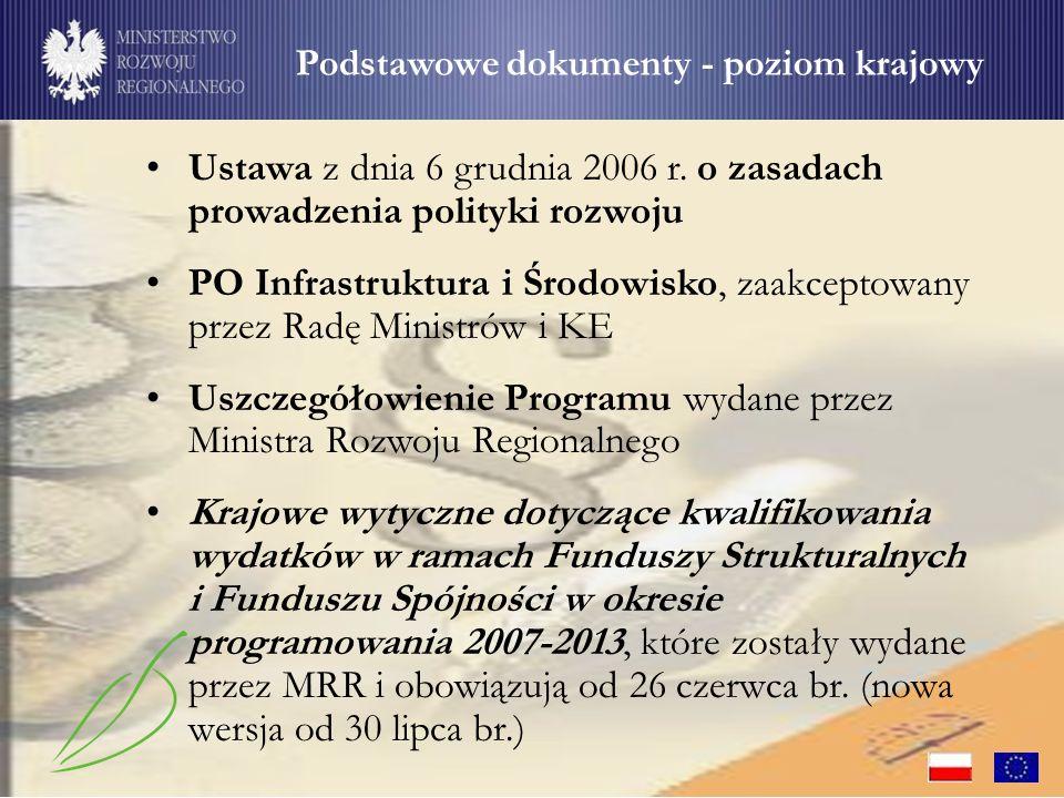 Wydatki muszą być poniesione i udokumentowane zgodnie z obowiązującym prawem polskim oraz prawem wspólnotowym Wydatki poniesione na podstawie umowy, która została zawarta z naruszeniem prawa lub zostały poniesione z naruszeniem prawa mogą zostać uznane za niekwalifikowalne w całości lub w części, w zależności od wagi tego naruszenia Szczególnie istotna - zgodność wydatków z przepisami w obszarach: zamówień publicznych, ochrony środowiska, pomocy publicznej oraz rachunkowości Ogólne zasady – zgodność z przepisami prawa (1/2)