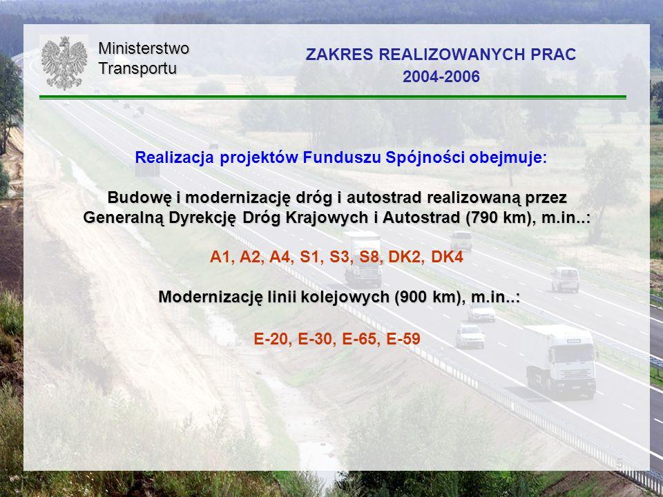 6 19 projektów drogowych: 1.Budowa Autostrady A 1, odc.