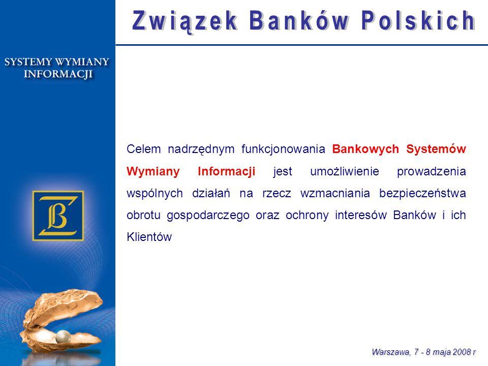 Warszawa, 7 - 8 maja 2008 r 1992 r.System BANKOWY REJESTR – ponad 1 mln.