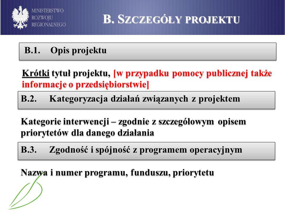 B.S ZCZEGÓŁY PROJEKTU B.4.