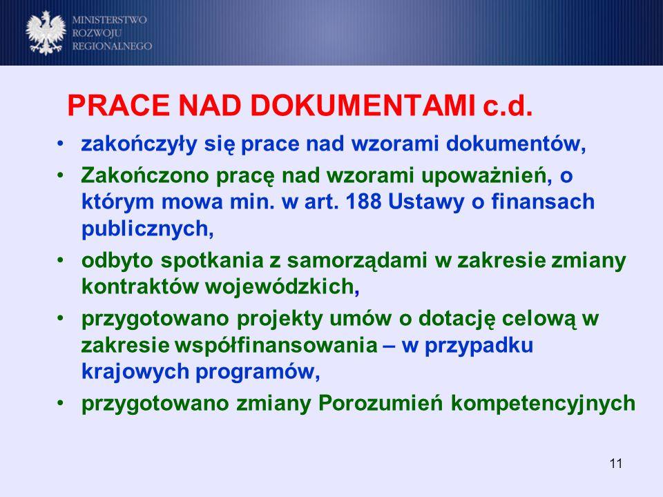 11 PRACE NAD DOKUMENTAMI c.d.