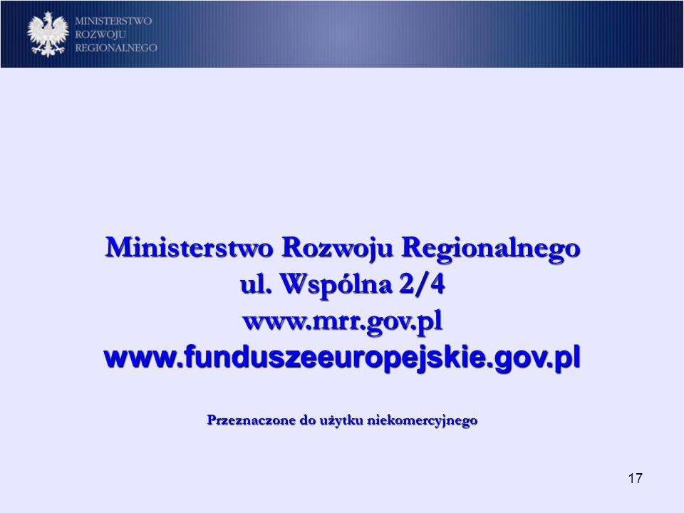 17 Ministerstwo Rozwoju Regionalnego ul.
