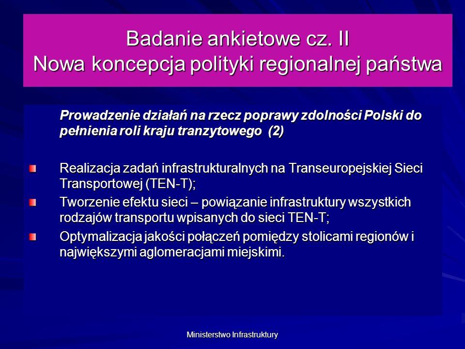 Ministerstwo Infrastruktury Badanie ankietowe cz.