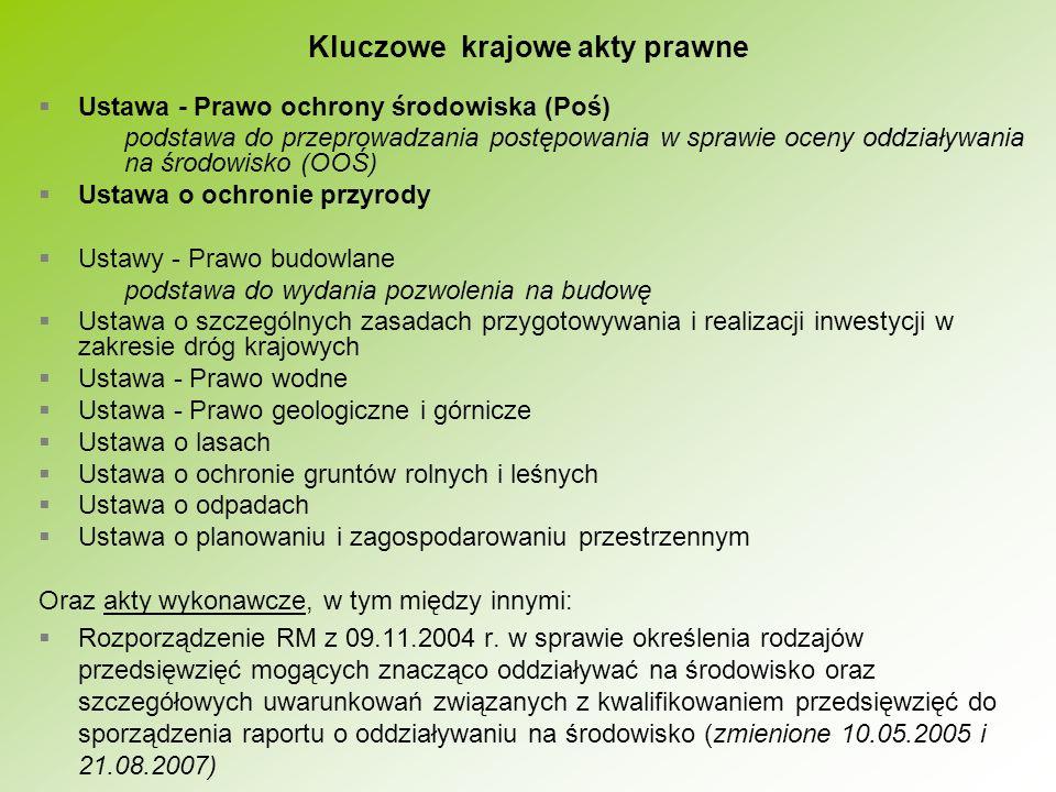 nie w pełni dostosowane prawo w zakresie dyrektywy 85/337/EWG i dyrektywy siedliskowej niezrozumienie wymogów prawa polskiego opartego o przepisy unijne przez inwestorów, wykonawców raportów, urzędników uczestniczących w postępowaniu administracyjnym złe stosowanie prawa