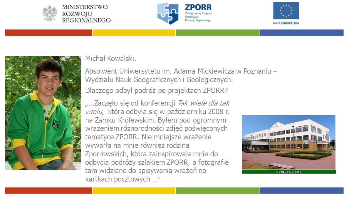 Michał Kowalski. Absolwent Uniwersytetu im.