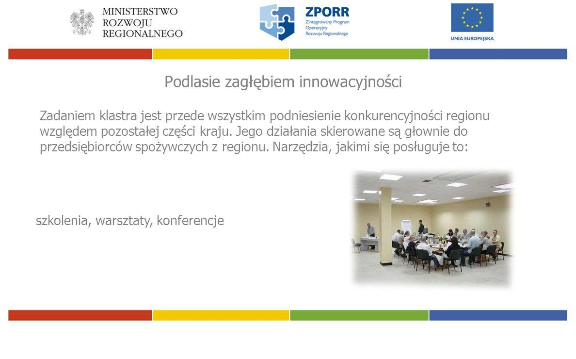 Podlasie zagłębiem innowacyjności Zadaniem klastra jest przede wszystkim podniesienie konkurencyjności regionu względem pozostałej części kraju.