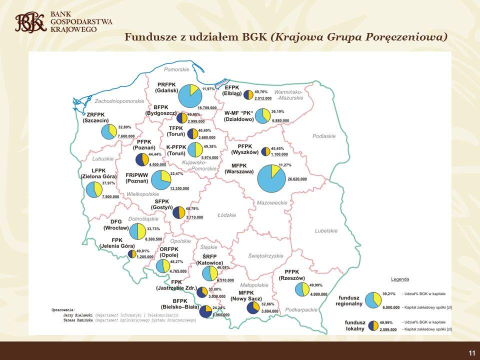 11 Fundusze z udziałem BGK (Krajowa Grupa Poręczeniowa)