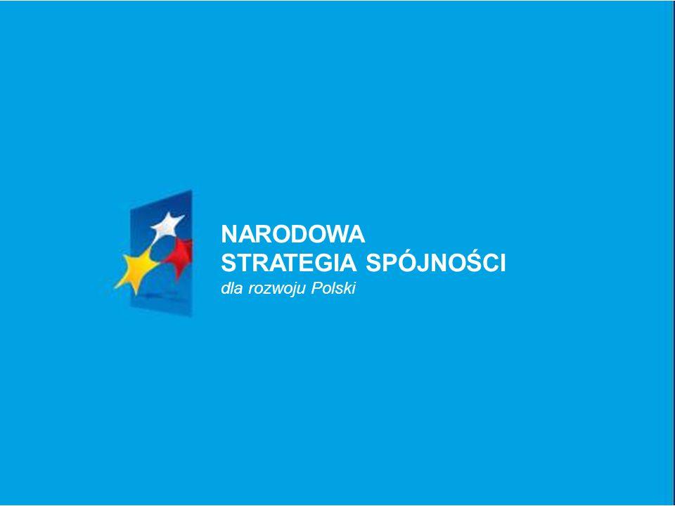 NARODOWA STRATEGIA SPÓJNOŚCI dla rozwoju Polski