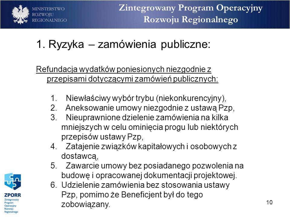 10 Zintegrowany Program Operacyjny Rozwoju Regionalnego 1.