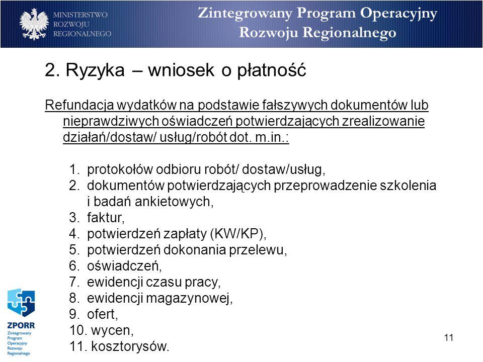11 Zintegrowany Program Operacyjny Rozwoju Regionalnego 2.