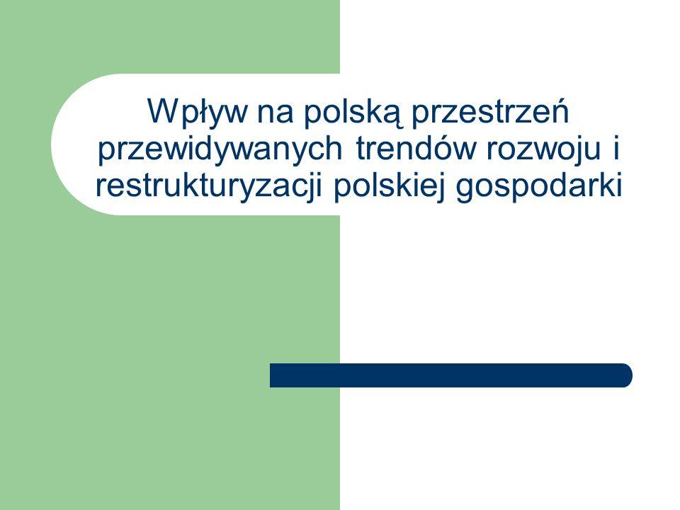 Wpływ na polską przestrzeń przewidywanych trendów rozwoju i restrukturyzacji polskiej gospodarki