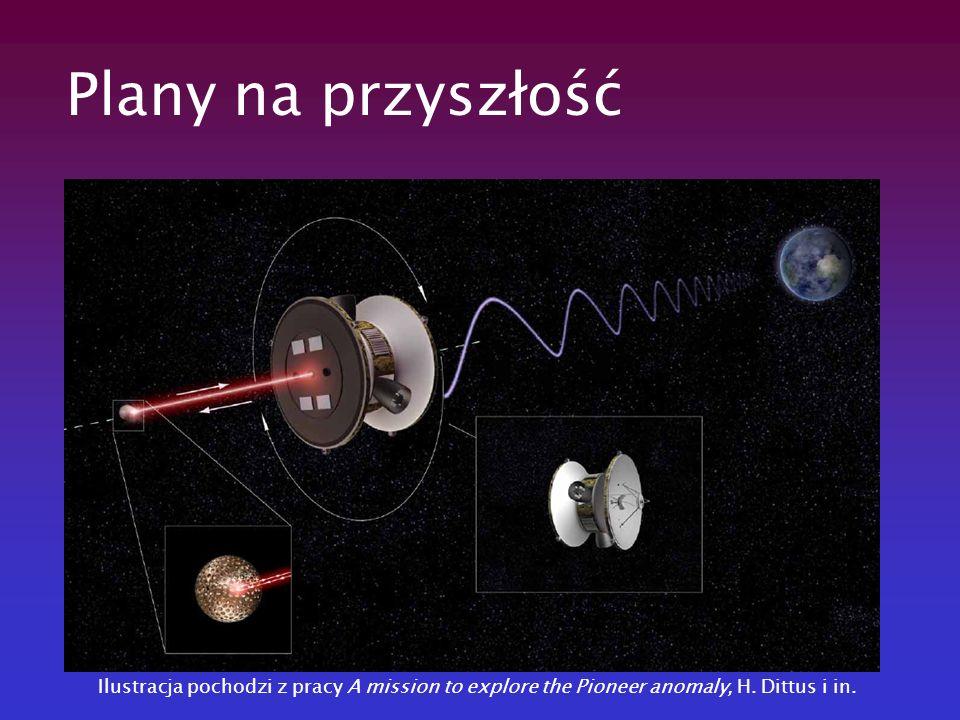 Plany na przyszłość Ilustracja pochodzi z pracy A mission to explore the Pioneer anomaly, H. Dittus i in.
