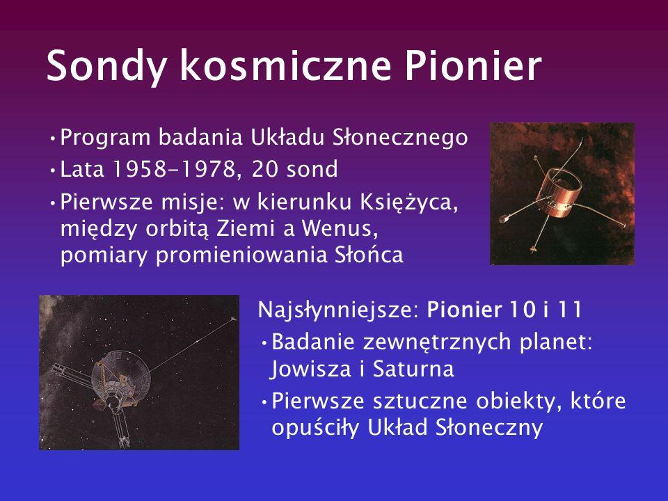 Program badania Układu Słonecznego Lata 1958-1978, 20 sond Pierwsze misje: w kierunku Księżyca, między orbitą Ziemi a Wenus, pomiary promieniowania Sł