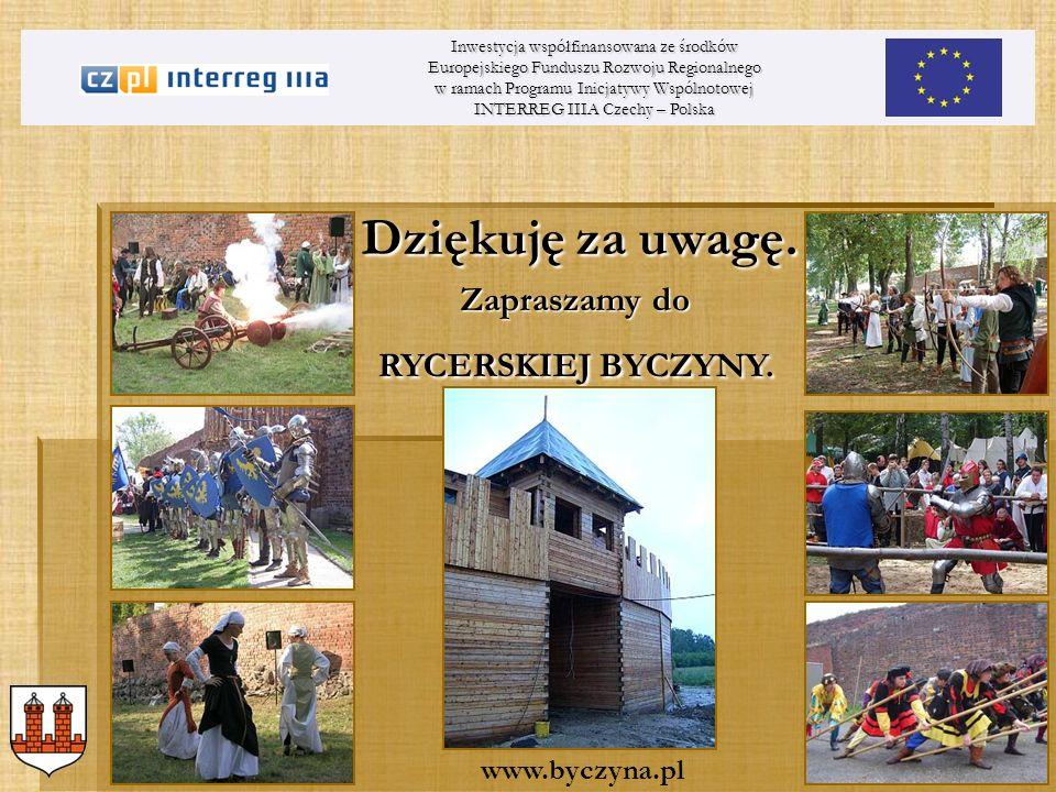 Dziękuję za uwagę. Inwestycja współfinansowana ze środków Europejskiego Funduszu Rozwoju Regionalnego w ramach Programu Inicjatywy Wspólnotowej INTERR