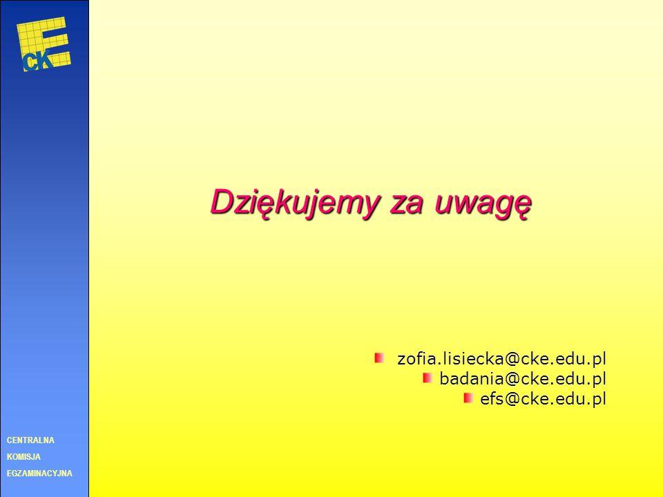 upowszechnianie wyników badań publikacje w Biuletynie Badawczym CKE Egzamin: 8/2006 – Edukacyjna wartość dodana 9/2006 – Zrównywanie wyników egzaminów