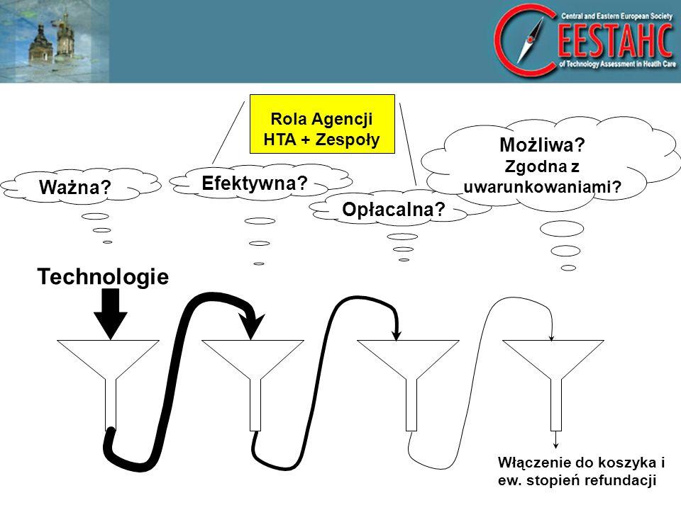 Zasada 7 Jeżeli na podstawie wag obliczonych w pierwszych dwóch lejkach (ważności, efektywności, uproszczona BIA) iloczyn wag wynosi: 1.< poziomu O – świadczenie zdrowotne nie jest włączane do koszyka ŚG, zostaje automatycznie wykluczone 2.w przedziale O-P– przechodzi do kolejnych etap oceny (IV lejek) 3.