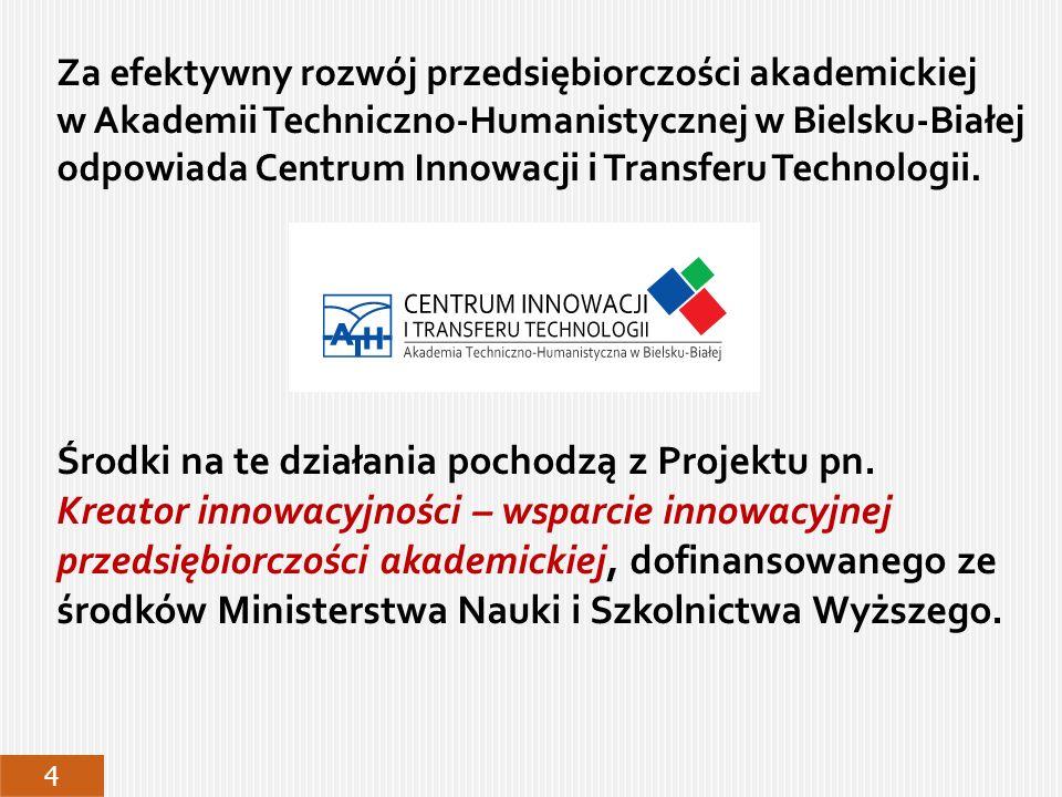 W okresie od VI do X 2011 roku Centrum Innowacji i Transferu Technologii wykonało badanie rynkowe wśród blisko 500 firm produkcyjnych i usługowych, służące: lepszemu dostosowaniu oferty doradczej i badawczej ATH do potrzeb przedsiębiorstw z regionu, poprawie współpracy pomiędzy środowiskiem akademickim i gospodarczym, m.in.