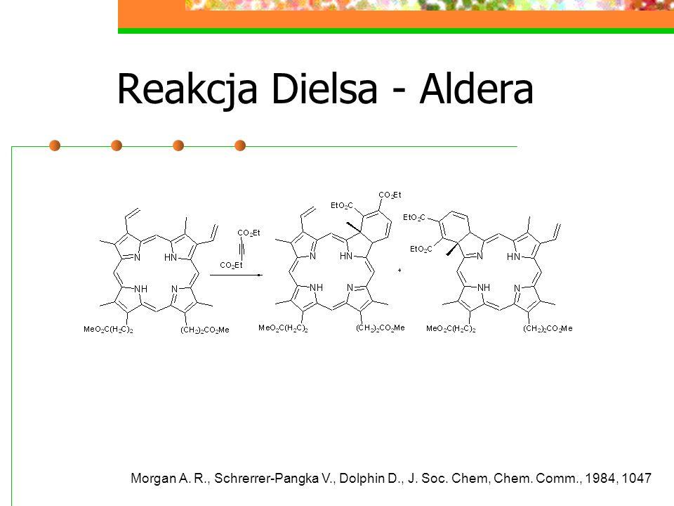 Reakcja Dielsa - Aldera Morgan A. R., Schrerrer-Pangka V., Dolphin D., J.