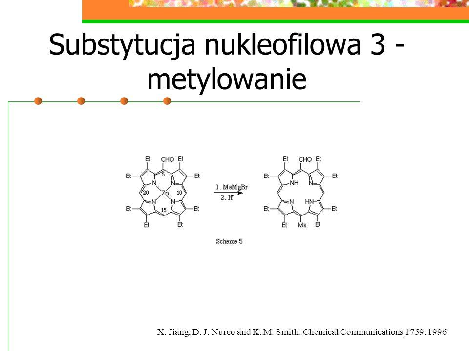 Utlenianie - otrzymywanie oksoporfiryn TTFA=thalium(III) trifluoroacetide B.