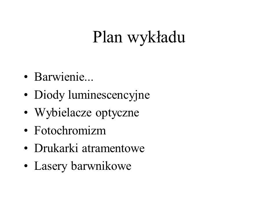 Plan wykładu Barwienie...
