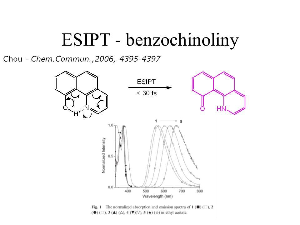 ESIPT - benzochinoliny Chou - Chem.Commun.,2006, 4395-4397
