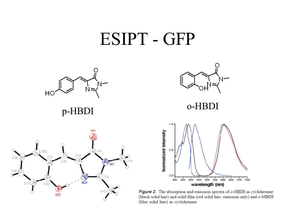 ESIPT - GFP o-HBDI p-HBDI